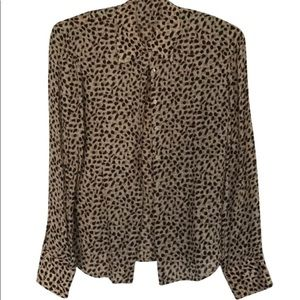 Brooks bros leopard print silk blouse